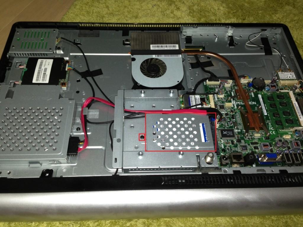 ONKYO E411A5B ハードディスク交換