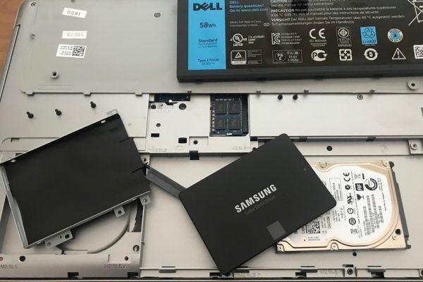 DELL Inspiron17 ハードディスクからSSD換装
